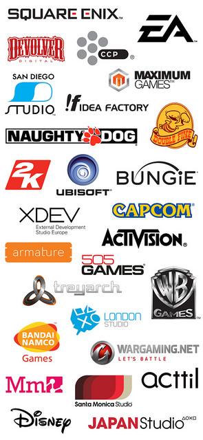PlayStation Experience 2015 - лого компаний которые будут на выставке