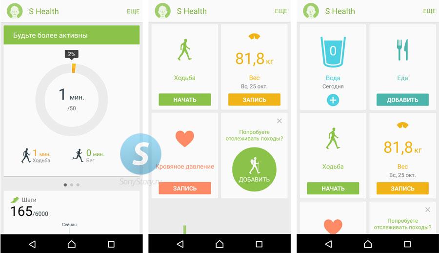 Обзор lifelog и сравнение с S Health
