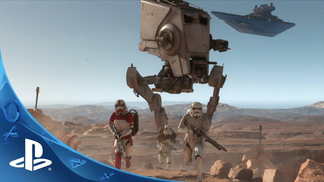 PlayStation 4 место для игры Star Wars Battlerfront