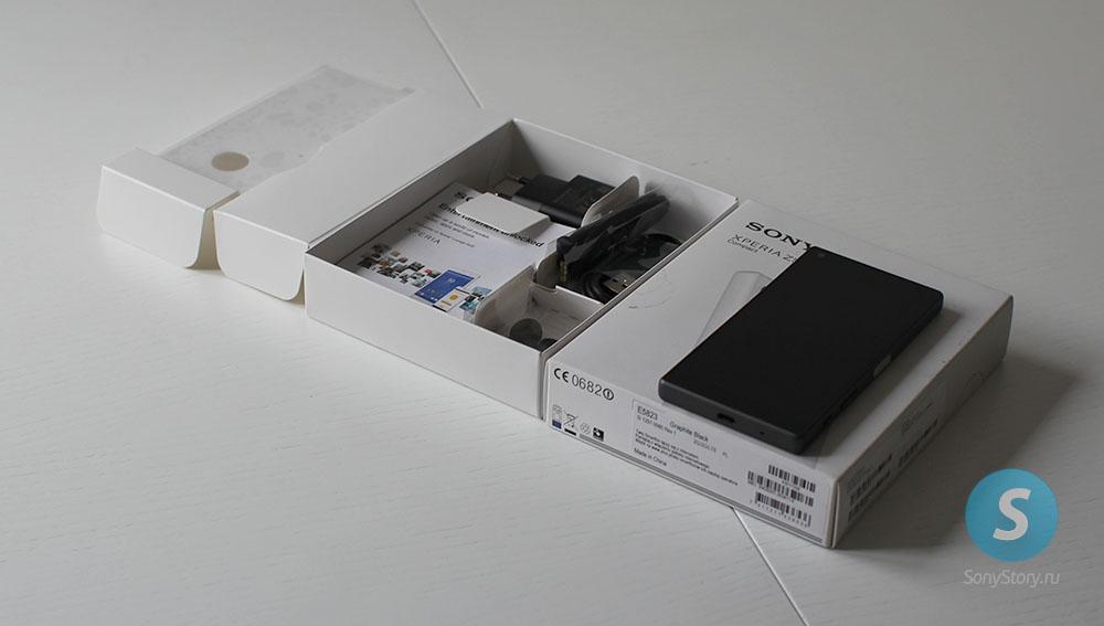 распаковка Xperia Z5 Compact