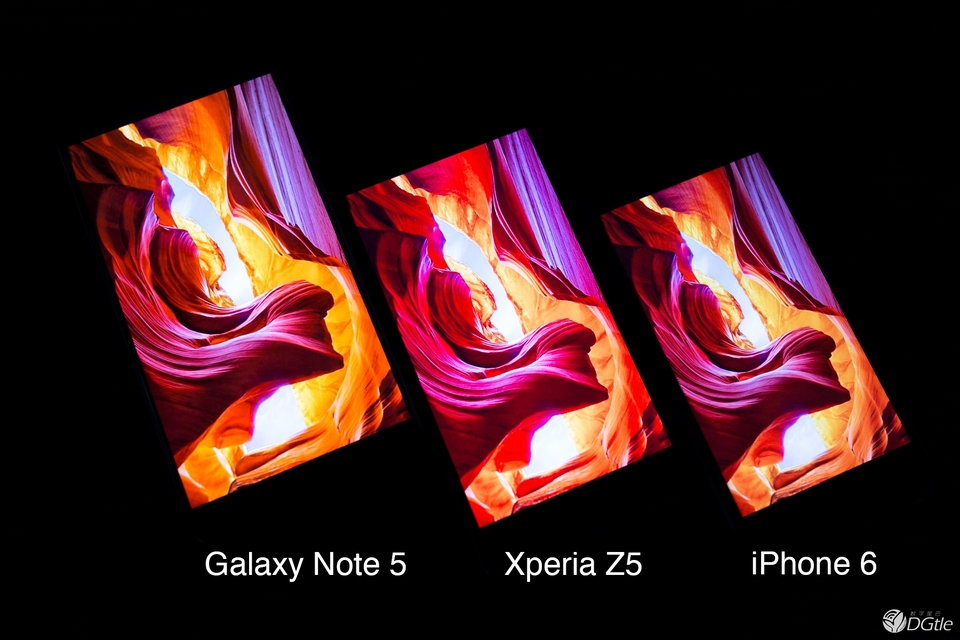 Сравнение экранов Xperia Z5 и Galaxy Note 5