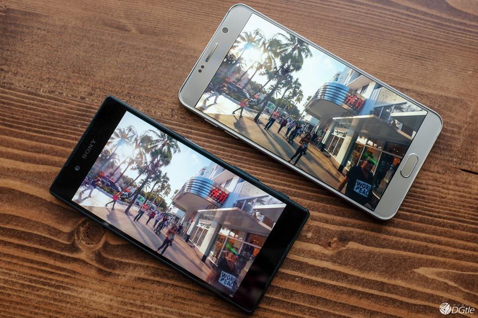 Фото Xperia Z5 против Galaxy Note 5