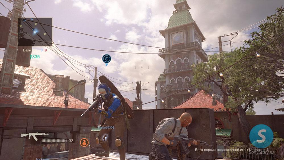 Мультиплеер Uncharted 4 - помощники