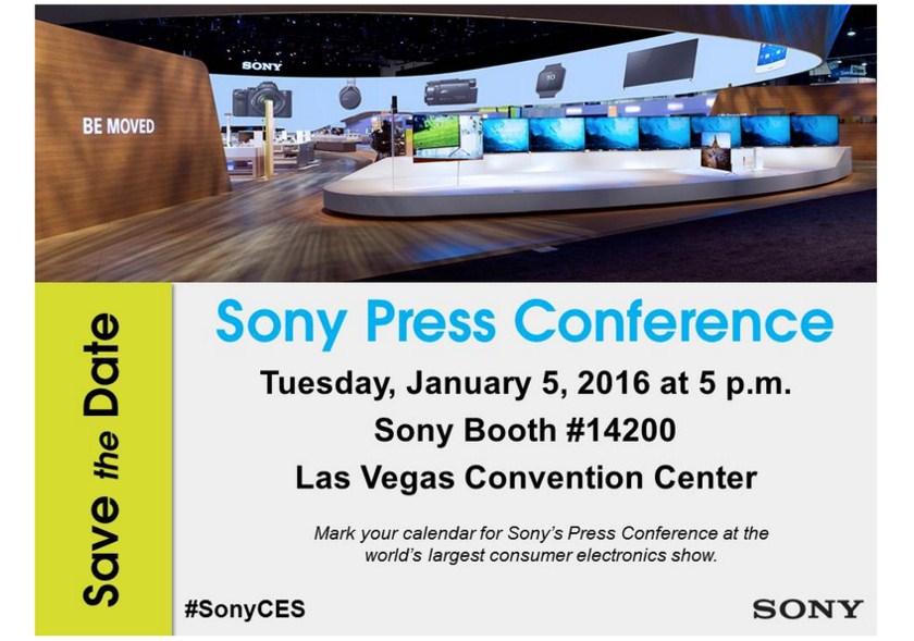 Sony проведет пресс-конференцию на CES 2016