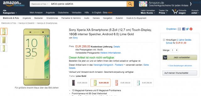 Xperia-XA-Amazon.de