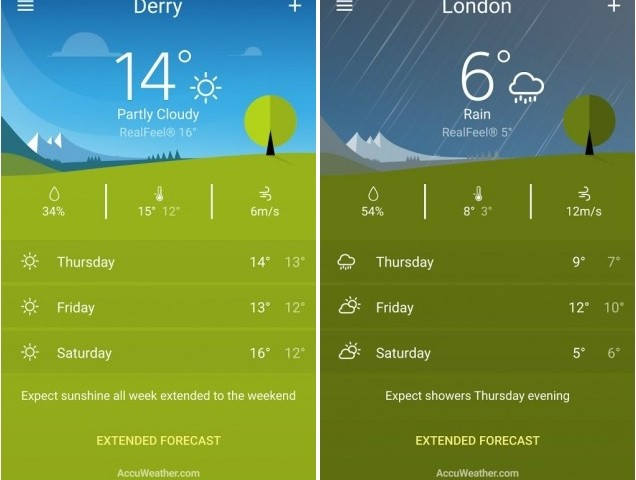 sony weather app