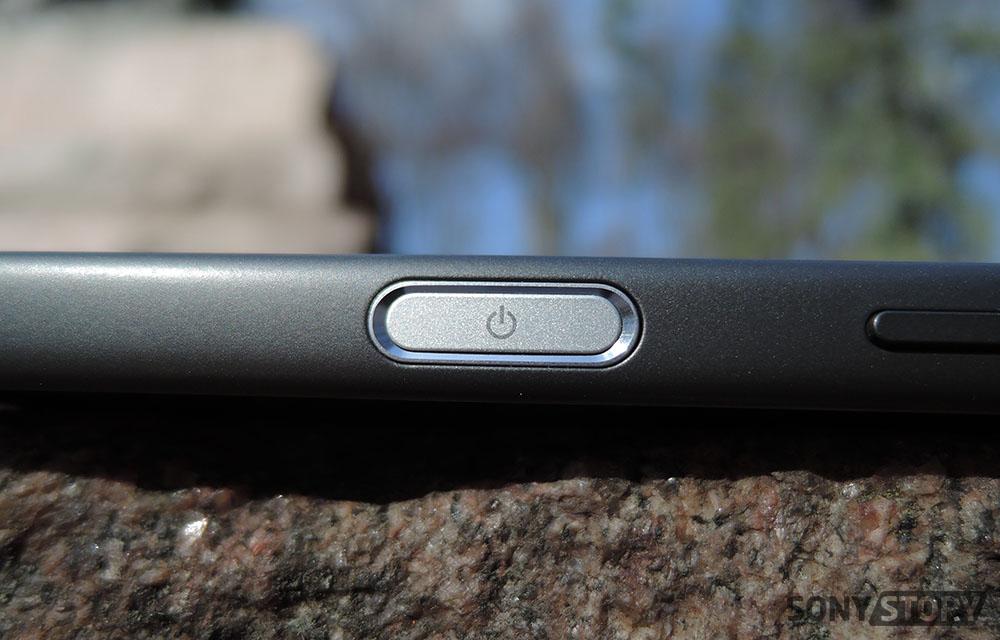 обзор Sony Xperia Z5 Compact датчик отпечатков пальцев