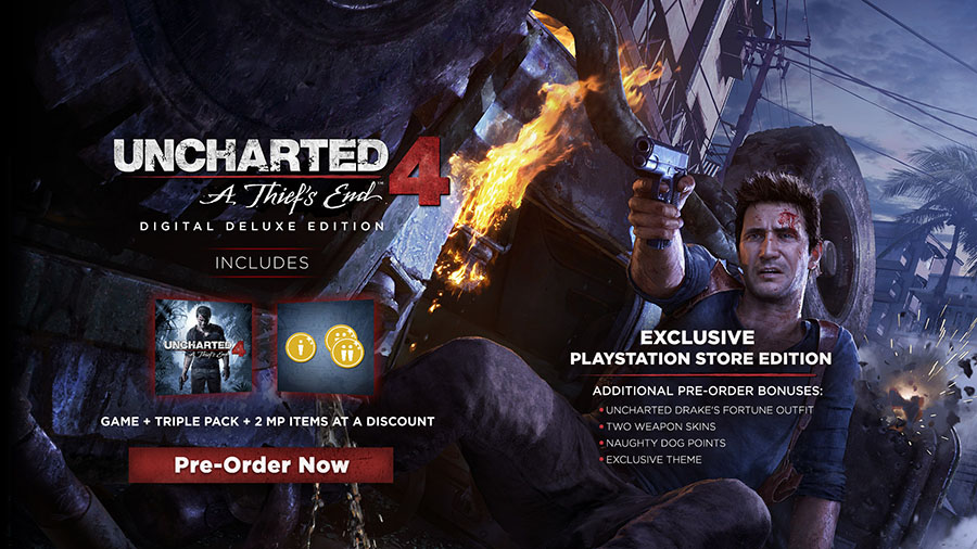 Uncharted 4 A Thief's End Digital Deluxe Edition