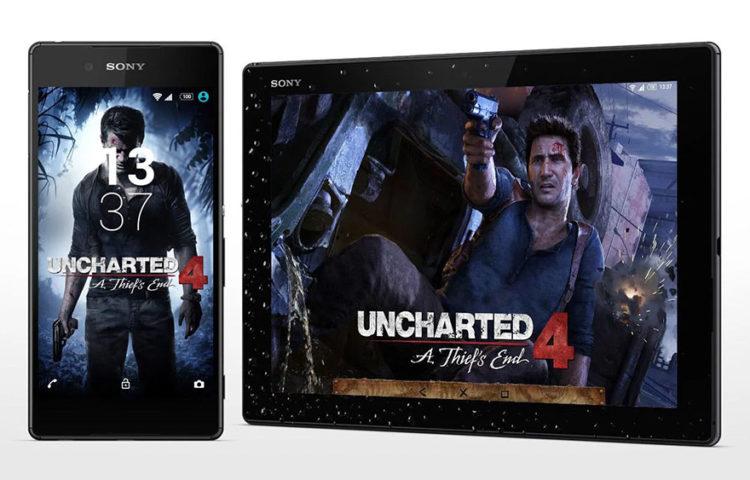 тема для смартфона Uncharted 4