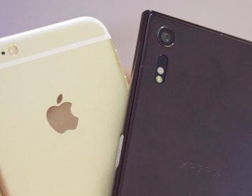 сравнение качества видео Xperia XZ vs iPhone 6s Plus