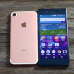 сравнение iPhone 7 и Xperia XZ