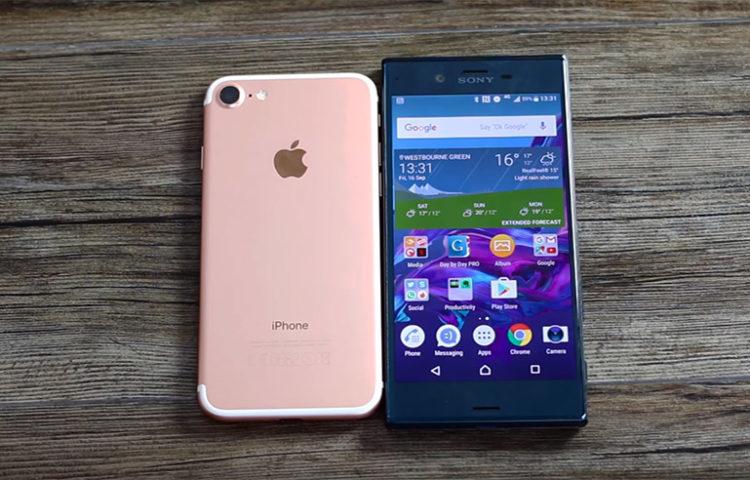 iphone 6s vs xperia xz