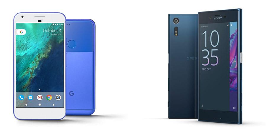 сравнение Google Pixel vs Xperia XZ