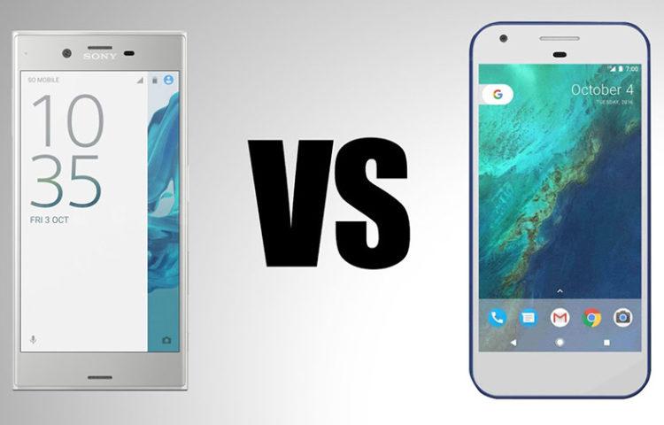 сравнение скорости Xperia XZ vs Google Pixel