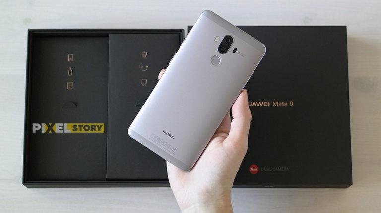 Распаковка и первый взгляд Huawei Mate 9 Space Gray