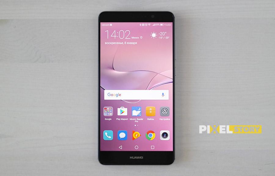 Первый взгляд Huawei Mate 9 Space Gray - экран