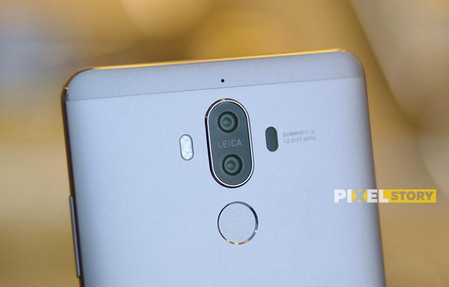 Первый взгляд Huawei Mate 9 Space Gray - основная двойная камера