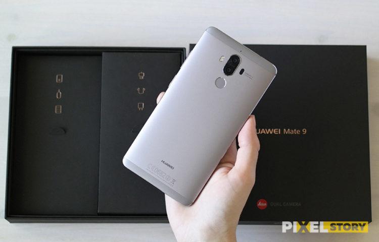 Распаковка Huawei Mate 9 - внешний фронт