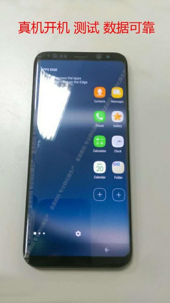 Galaxy S8 реальный внешний вид