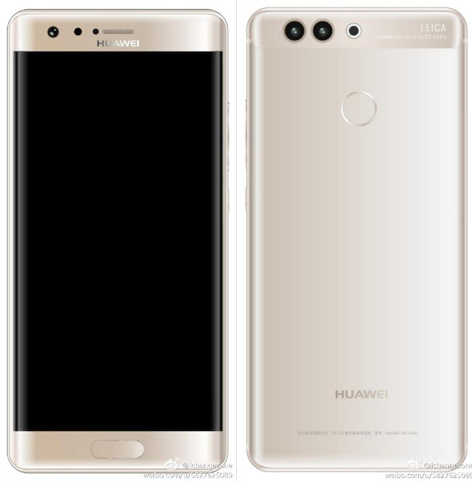 Huawei P10 plus рендер