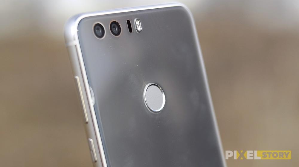 обзор Huawei Honor 8 - умная кнопка и датчик отпечатка пальцев