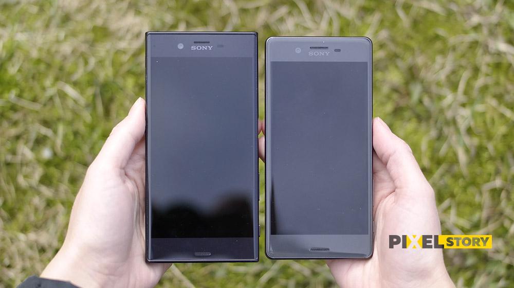 Sony Xperia XZ vs Xperia X- дизайн