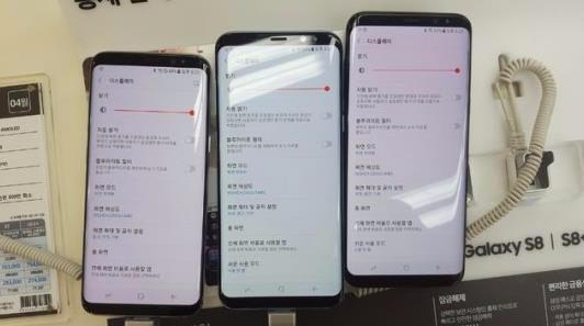 красные экраны Samsung Galaxy S8