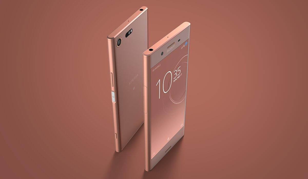 Продажи Xperia XZ Premium бронзово-розовый