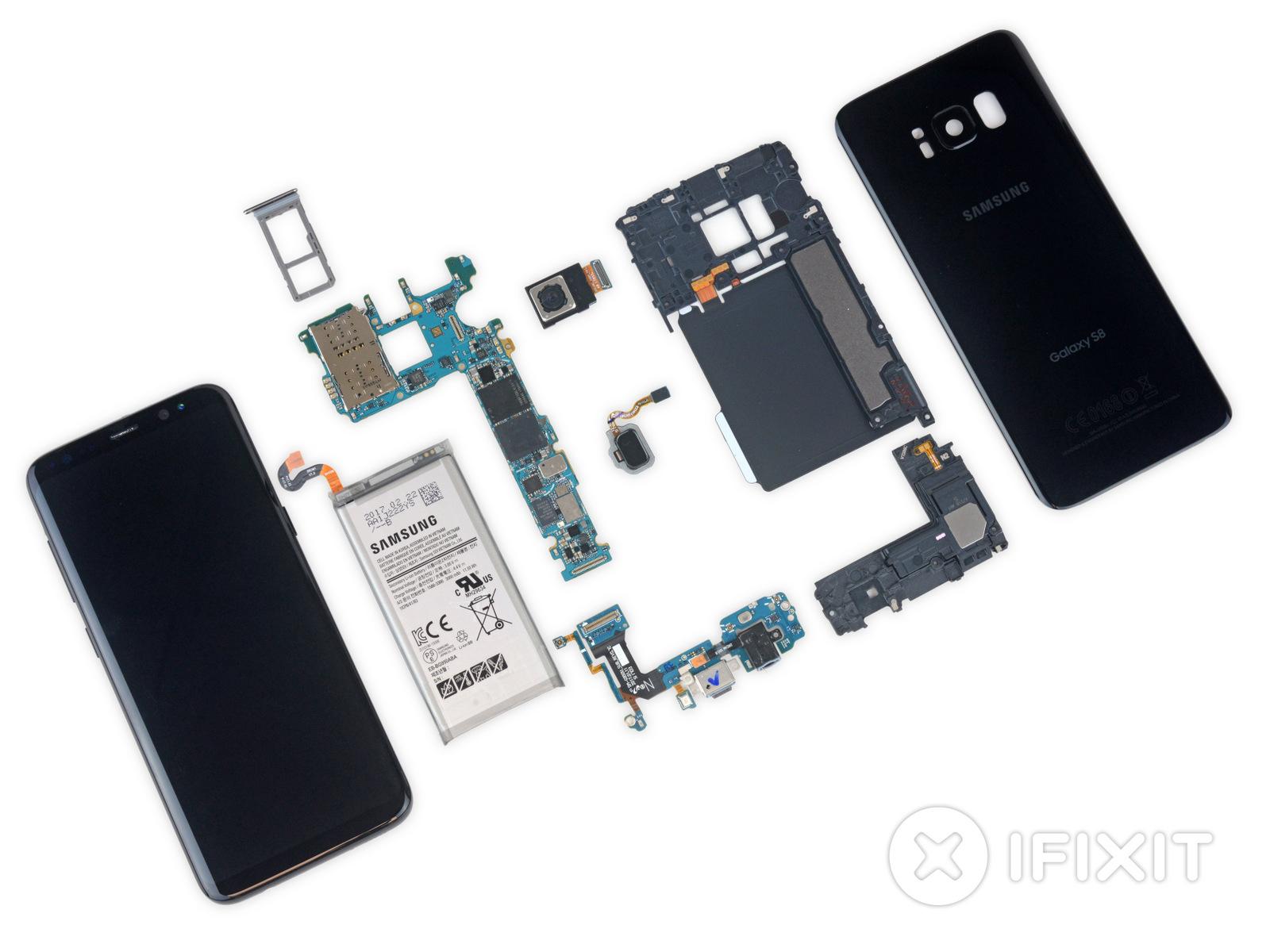 разобранный Samsung Galaxy S8