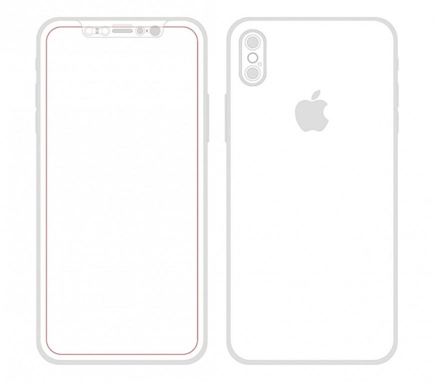 чертеж iPhone 8