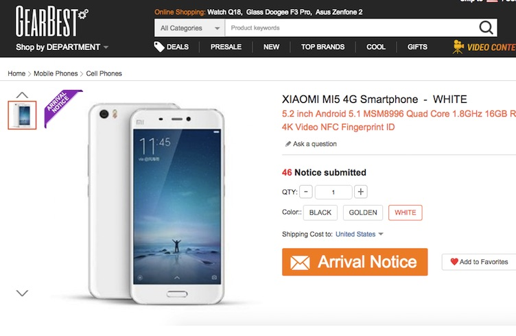 GearBest не продает XIaomi