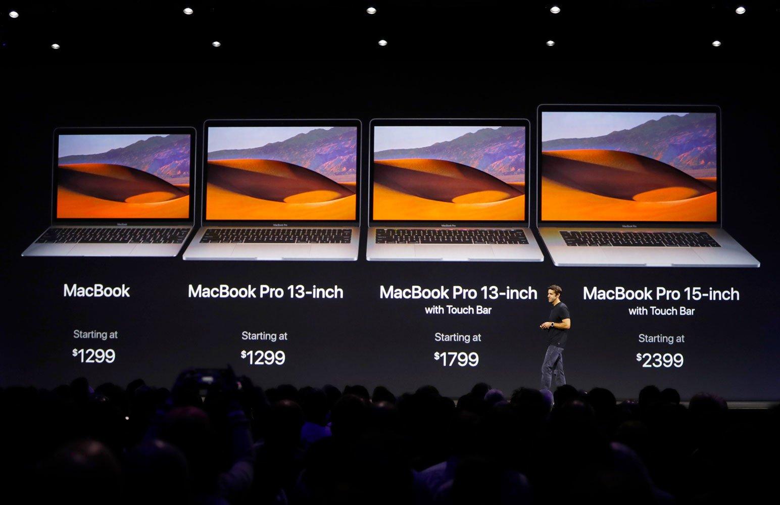 Macbook - цены на WWDC 2017