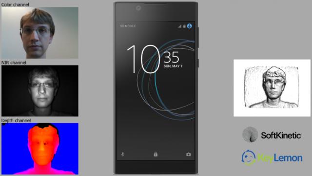 специальный 3D сенсор глубины от SoftKinect для распознавания лиц на смартфонах Sony Xperia