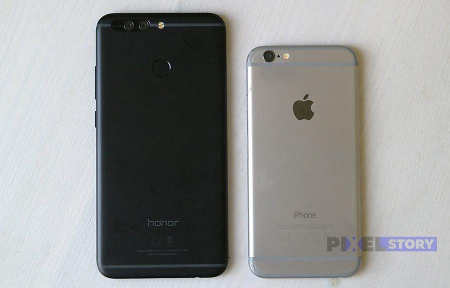 Honor 8 Pro vs iPhone