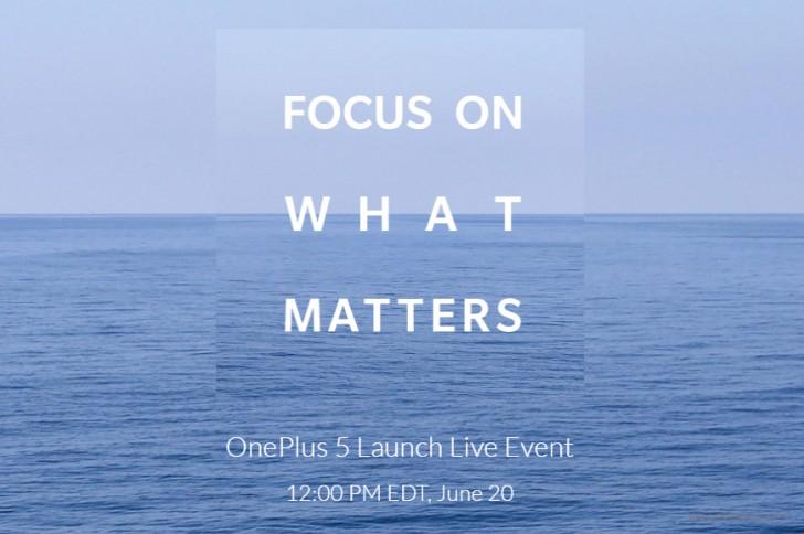 анонс OnePlus 5 20 июня