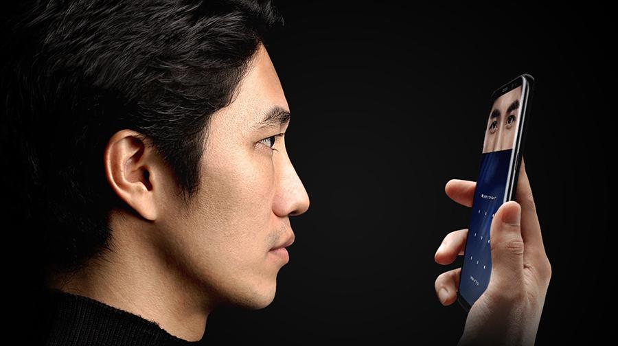сканер радужки глаза в Galaxy S8