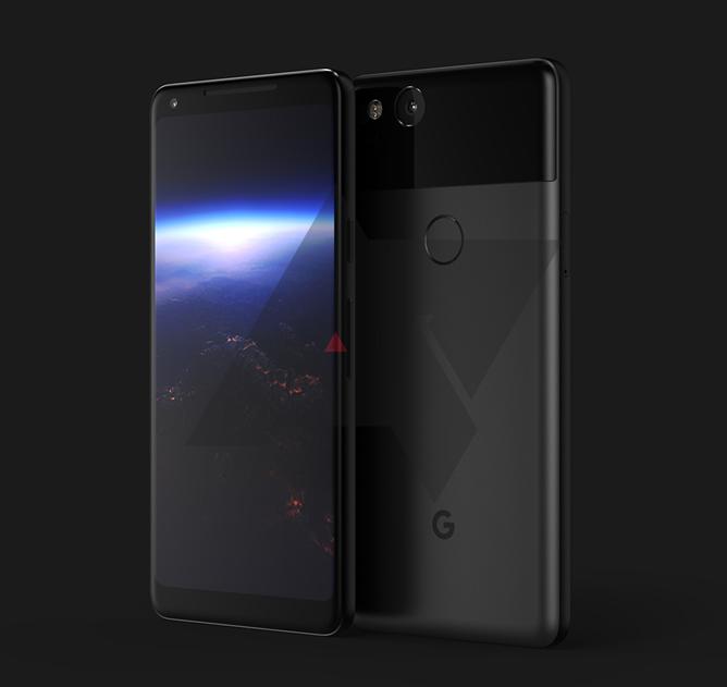дизайн Google Pixel XL 2