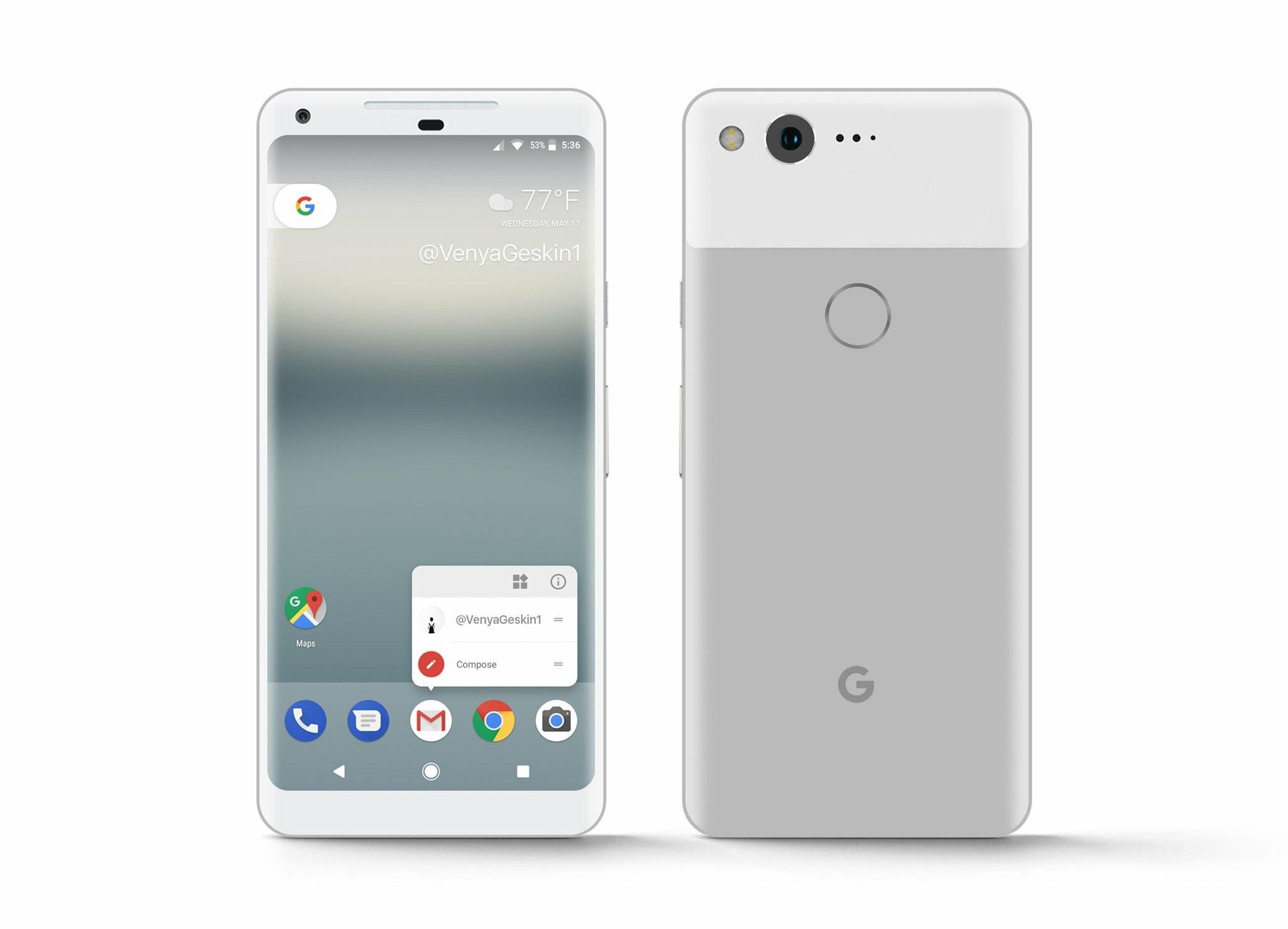 рендер Google Pixel XL 2
