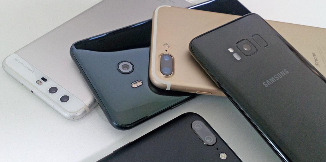 двойные камеры, флагманы, HTC U11, OnePlus 5, iPhone 7 Plus, Huawei P10