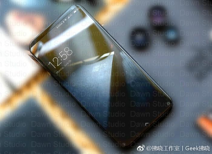 фото супер-флагман Xiaomi с безрамочным экраном