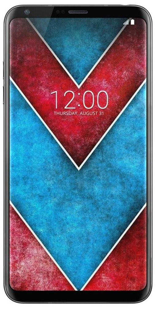 дизайн фронтальной панели LG V30