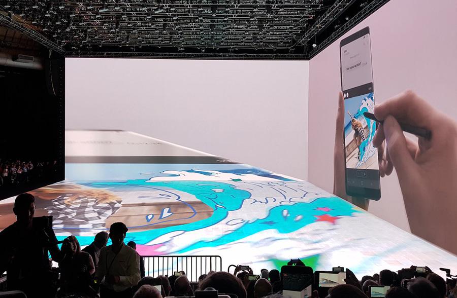 презентация Galaxy Note 8