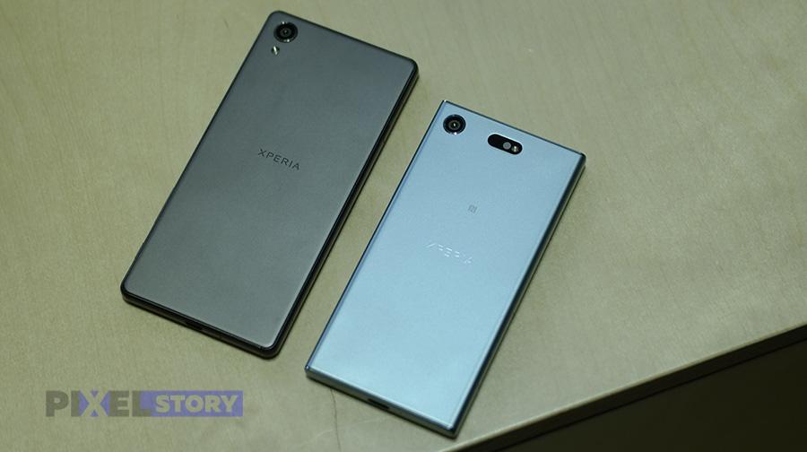 сравнение Sony Xperia XZ1 Compact vs Xperia X