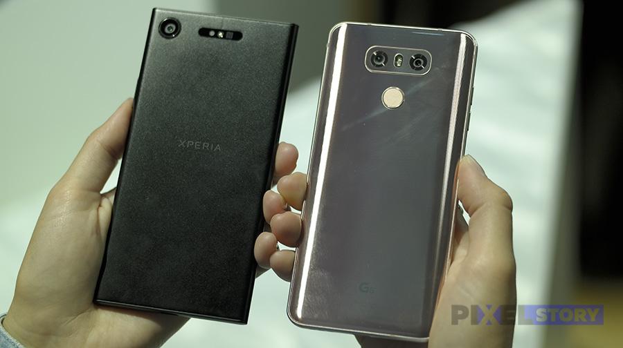 Сравнение Xperia XZ1 и LG G6