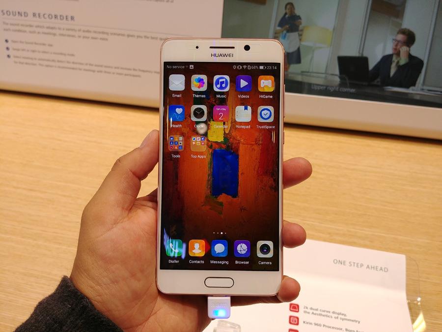 Huawei Mate 9 Pro в розовом цвете