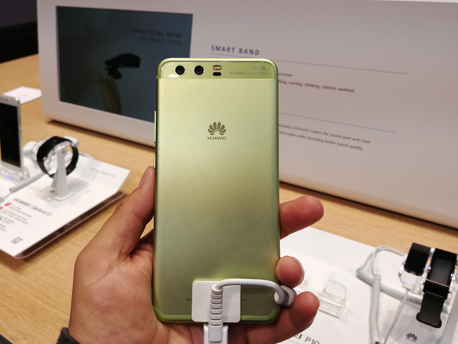 Huawei P10 зеленого цвета
