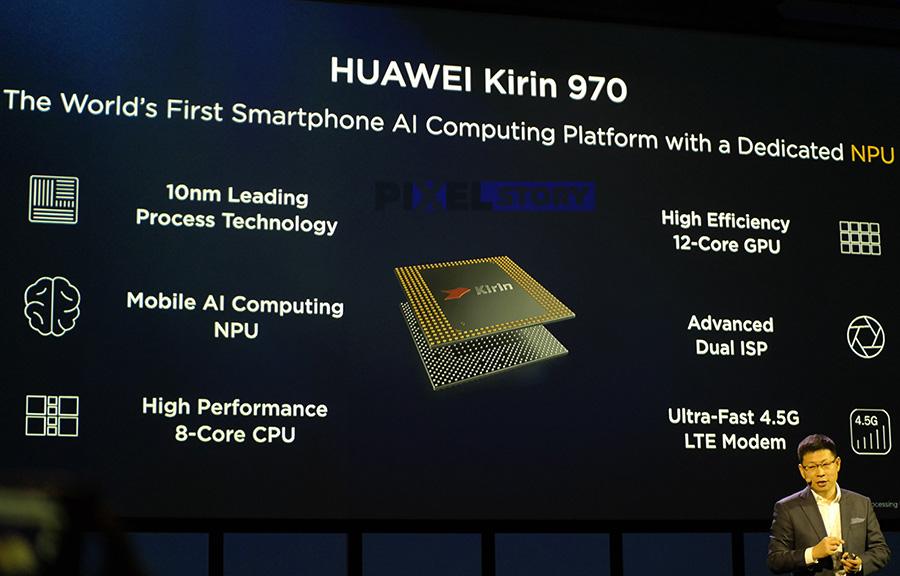 чипсет Huawei Kirin 970 со отдельным вычислительным блоком для нейронных сетей (NPU)
