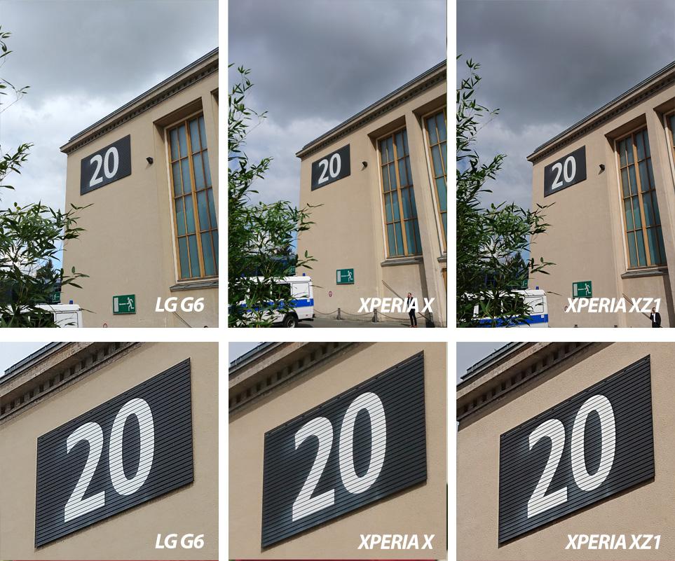 Сравнение камер Xperia XZ1, Xperia X и LG G6: кропы
