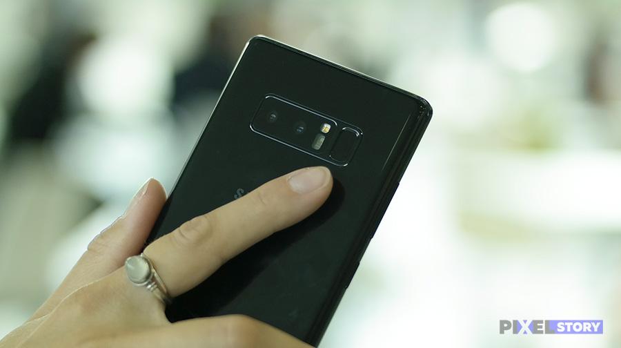 Обзор Samsung Galaxy Note 8 - датчик отпечатков пальцев