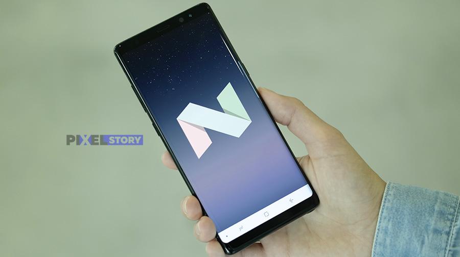 Galaxy Note 8 - Android 7.1.1 Nougat с фирменной оболочкой Grace UX